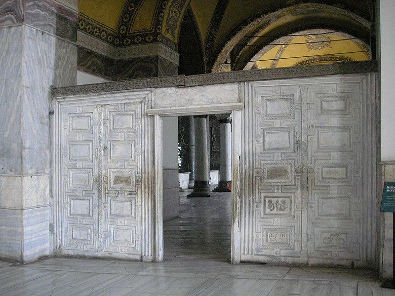 File:Marble door Hagia Sophia 2007 003.jpg