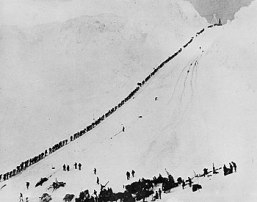 Weeping: Miners and prospectors climb the Chilkoot Trai...