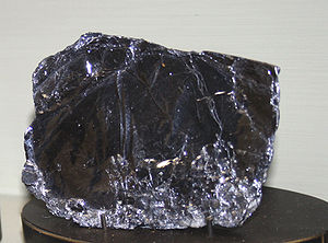 Mineral molybdenite from collection of Nationa...