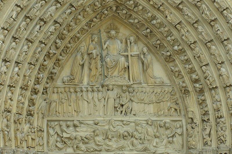 portal katedry Notre Dame de Paris