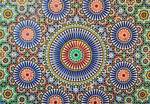 Patrón geométrico islámico -- 2014 -- Museo de Marrakech, Marruecos