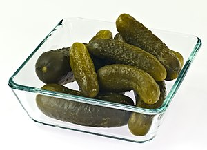 Polish style pickled cucumbers