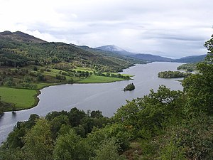 Loch Tummel in Perth and Kinross.