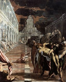 St Mark's Body Brought to Venice by Jacopo Tintoretto