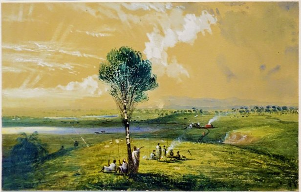 "State Library of Victoria - Joy of Museums - ""View taken from the spot - Bateman's Hill"" by George Alexander Gilbert"