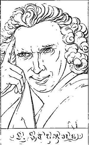 Portrait of Laurence Sterne.