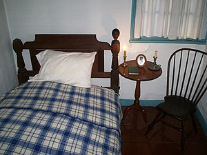 Alleged bedroom of Virginia Eliza Clemm Poe at...