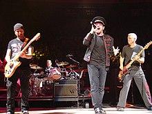 Photo représentant le groupe U2.