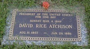 David Rice Atchison's tombstone.