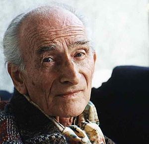My photo of Balthus taken in 1996 at his home ...