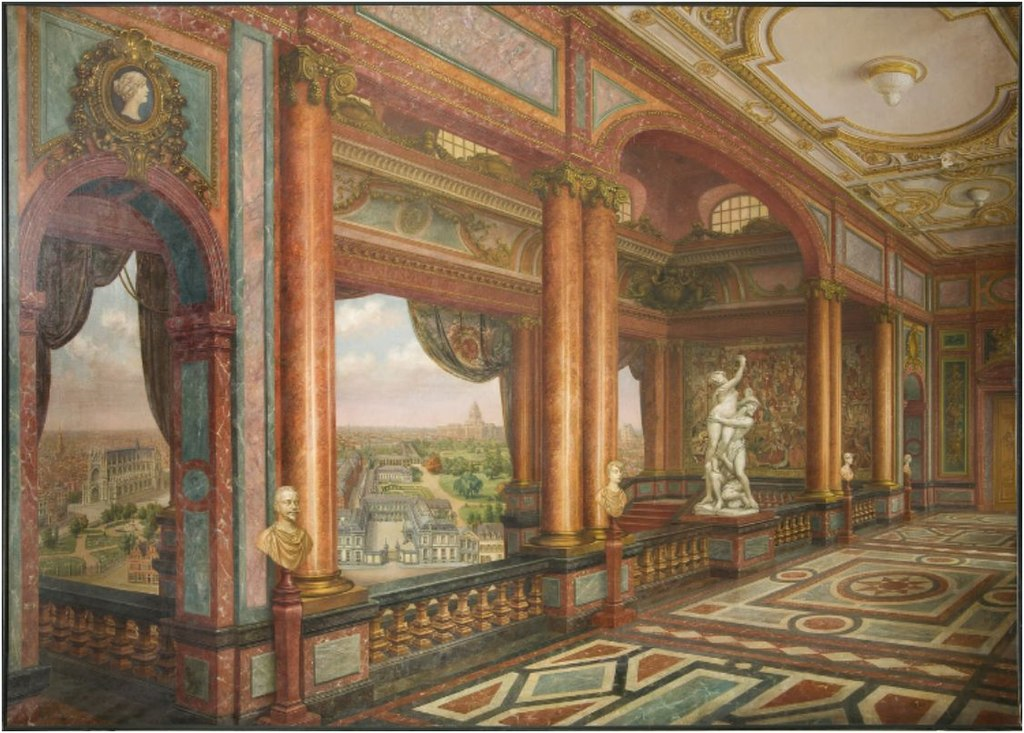 FileCartoon Of The Interior Of The Arenberg Palace