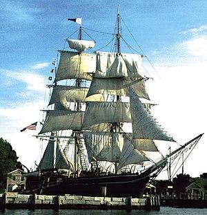 Charles W. Morgan, last wooden whaling ship, p...