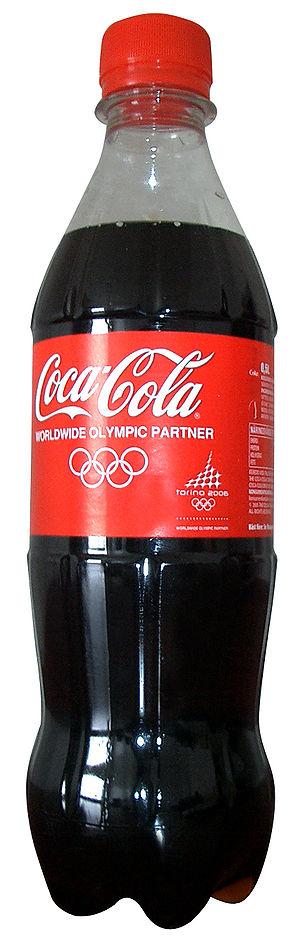 A bottle of Coca-Cola.