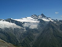 Großglockner seen from the southwest. The Groß...