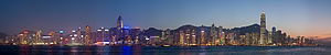 A 12 segment panoramic image of the Hong Kong ...