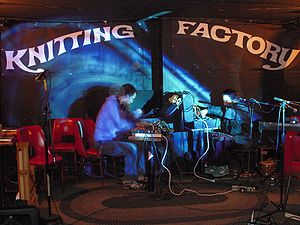 stage of the Knitting Factory (New York)