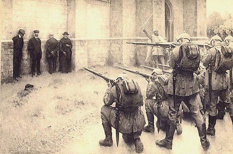 File:L'exécution des notables de Blégny, 1914 (par Evariste Carpentier).jpg