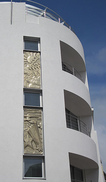 English: Sculptural panels by Michael Sandle, ...