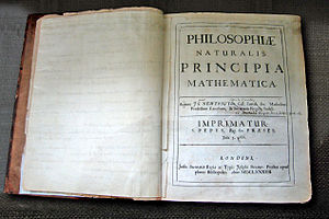 Isaac Newton's personal copy of the first edit...