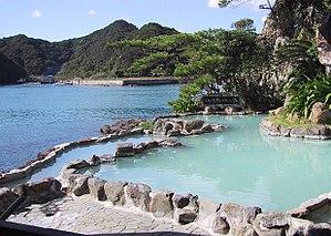 Roten-buro (outdoor onsen) on Nakanoshima in N...