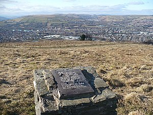 Plaque on Caerphilly Common - geograph.org.uk ...