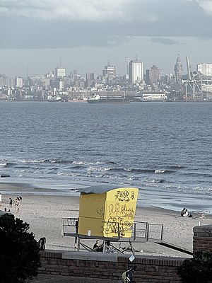 Playa del Cerro de Montevideo, Uruguay.