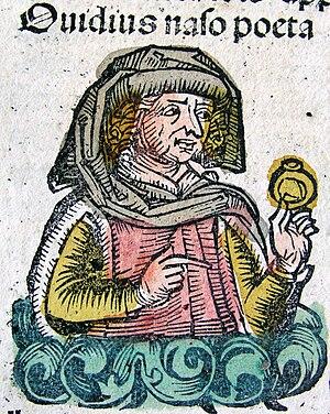 Deutsch: Publius Ovidius Naso. Holzschnitt aus...