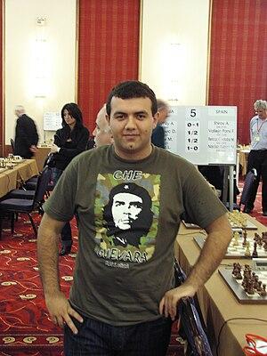 GM Rauf Mammadov (Azerbaijan) wearing Che Guev...