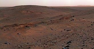 Marte visto pelo robô Spirit.
