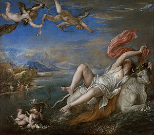 The Rape of Europa (1562) by Titian is one of ...