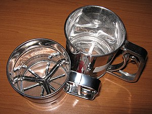 English: Sieve, Flour Sifter Русский: Сито мех...
