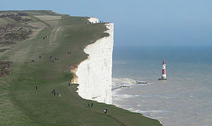 English: The cliffs of Beachy Head and the Lig...