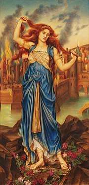 Painting by Evelyn De Morgan.