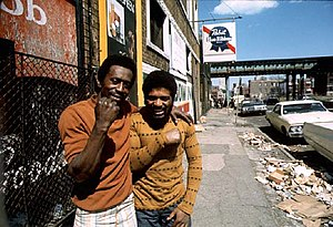 Chicago ghetto on the South Side. May 1974. Ph...