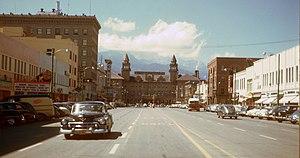Hi-res Kodachrome of downtown Colorado Springs...