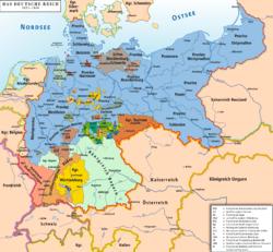 Mapa de las provincias del Reich Aleman