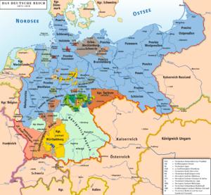 Karte des Deutschen Reiches 1871–1918 / Map of...