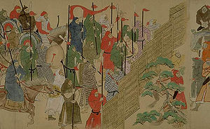 Mongol troops from «Scrolls of the Mongol Inva...