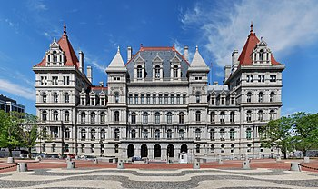 English: New York State Capitol viewed from th...
