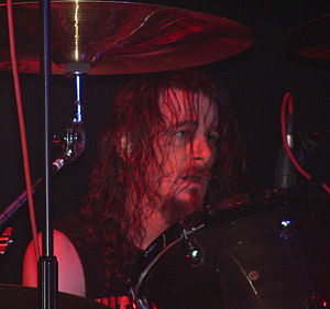 Paul Bostaph playing with Exodus in Bradford, ...