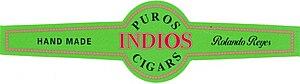 Cigar band of Puros Indios brand
