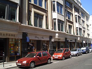 English: Savile Row, a shopping street in Lond...