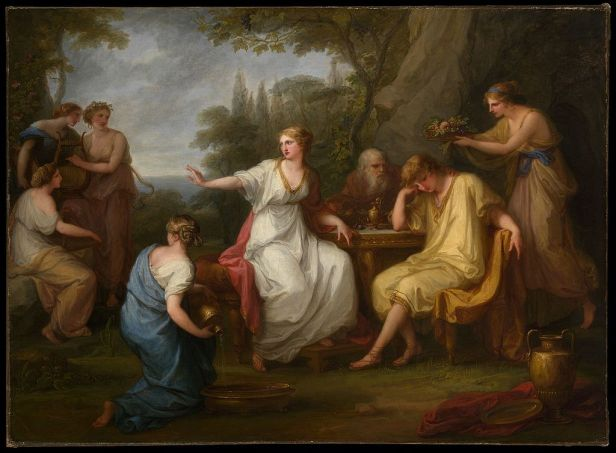 The Sorrow of Telemachus by Angelica Kauffman