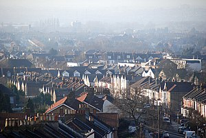 English: view from Grange Road over parts of S...