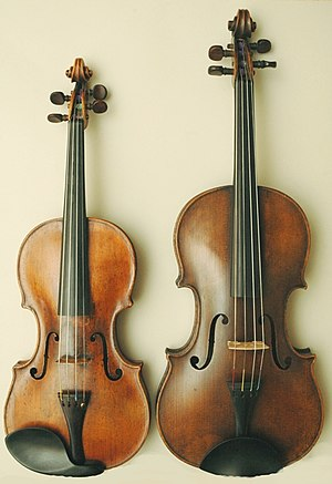 Difference / Unterschied Violin - Viola (Alto)