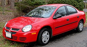 2003-2005 Dodge Neon photographed in USA. Cate...