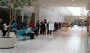 2,500 people line up in a mall in Texas City, ...