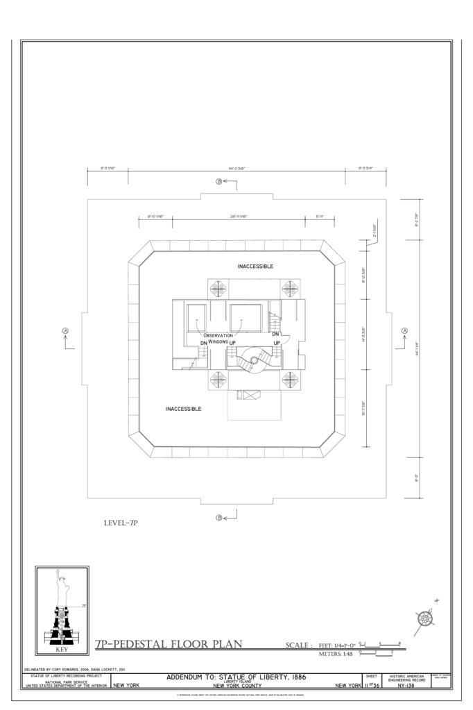 File 7p Pedestal Floor Plan Statue Of Liberty Liberty