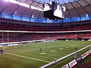 Home opener for the BC Lions at the newly reno...