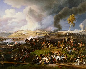 The Battle of Borodino as depicted by Louis Le...